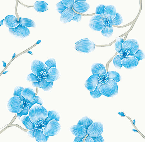 orquideas pattern