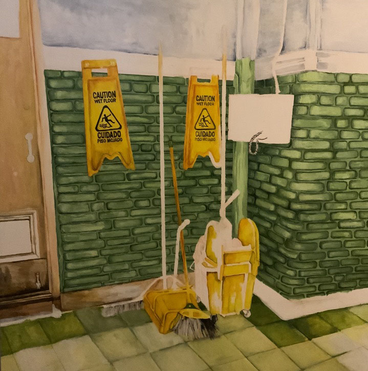 Work In Progress, 2020, acrylic on panel 36x36