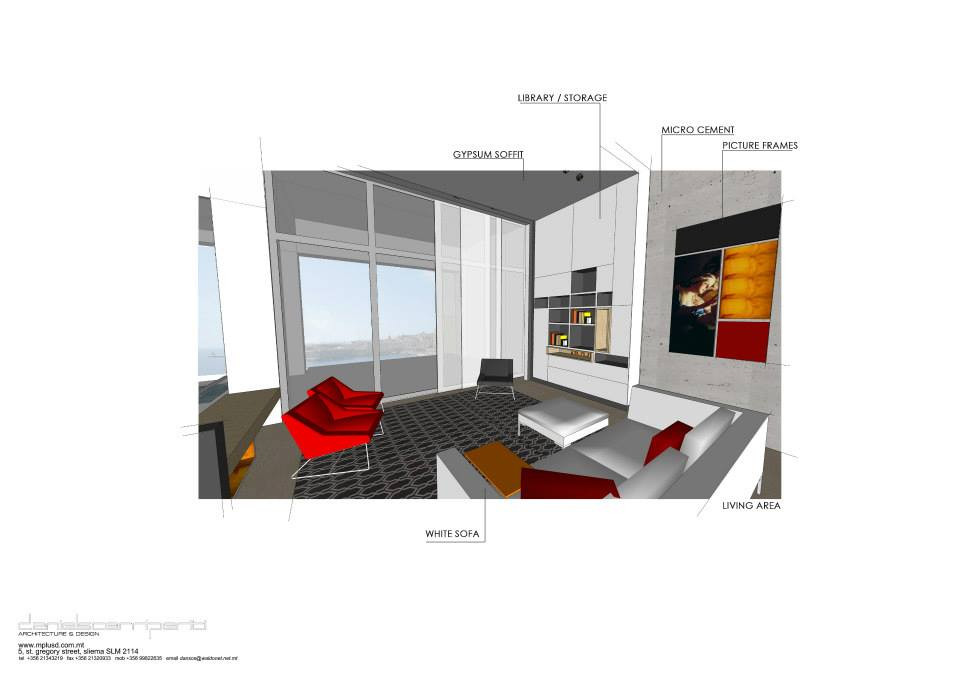 3D render of Sliema Apartment
