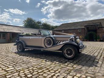 Silver Wedding Car