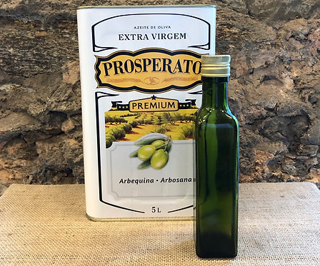 Azeite Extra-Virgem Prosperato Safra 2021 Arbequina+Arbosana 250ml + garrafa