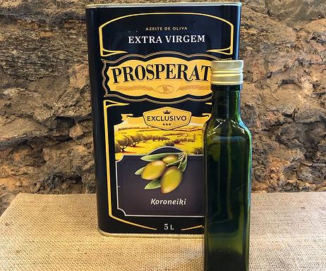Azeite Extra-Virgem Prosperato Safra 2021 Koroneiki 250ml + garrafa