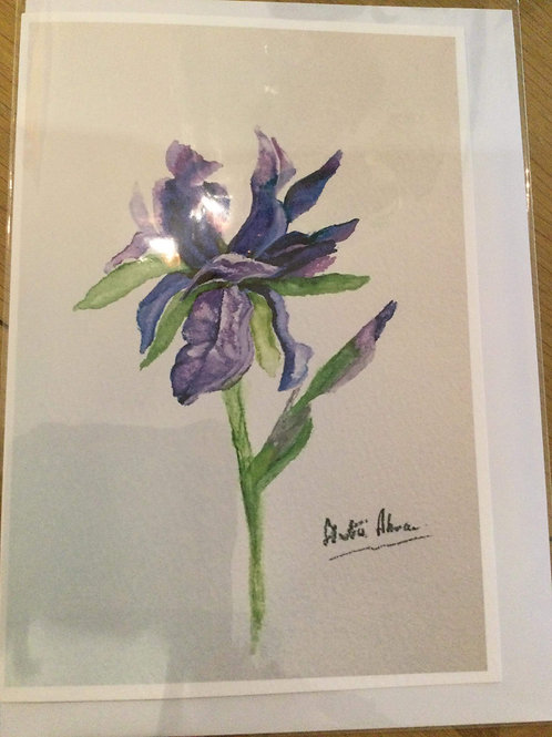 Watercolour greeting card
