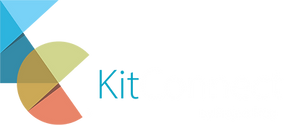 KitConnect logo - White and Blue - with