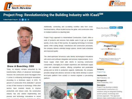 Project Frog Amongst the Top 10 Building Automation Solution Providers of 2019