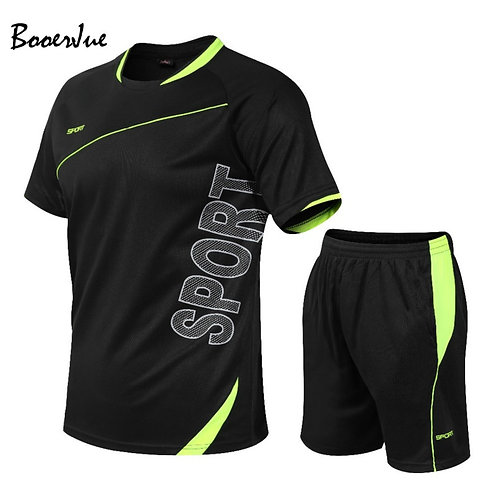Summer Sport Suit Men's Sets T Shirts+shorts Two Pieces Sets Casual Tracksuit
