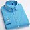 Thumbnail: Men's Standard-Fit Long-Sleeve Micro-Check Shirts Patch Pocket Thin Soft 100%