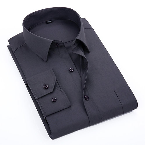 VISADA JAUNA 2019 Men's Casual Shirt Long-Sleeved Chest Pocket Camisa Masculina