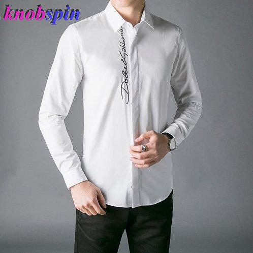 2019 Europe Fashion Men Shirt Top Brand Business Male Dress Shirts Long Sleeve