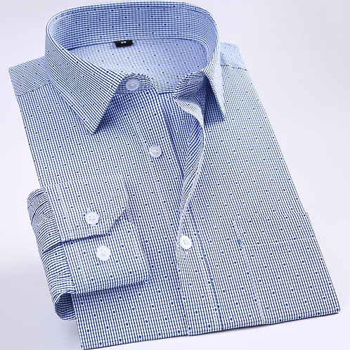 New Non-Iron Regular Fit Men  Long Sleeve Business Men Shirts Easy Care