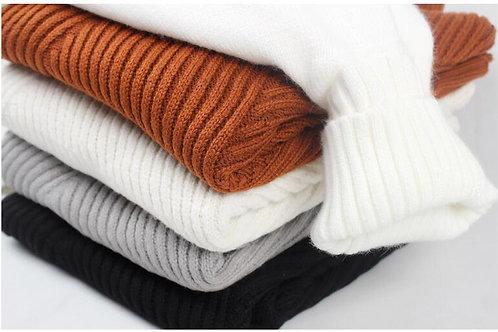 Turtleneck Sweater Men Wool Pullover Mens Sweaters Stripe Turtle Neck Male