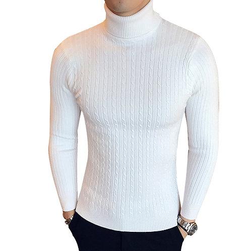 Winter High Neck Thick Warm Sweater Men Turtleneck Brand Mens Sweaters Slim Fit