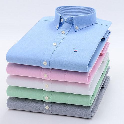 Mens Long Sleeve Cotton Casual Dress Shirts