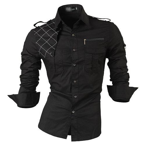 Jeansian Men's Long Sleeve Dress Casual Shirts Slim Fit