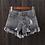 Thumbnail: New Arrival Casual Summer Denim Women Shorts High Waists Fur-Lined Leg-Openings