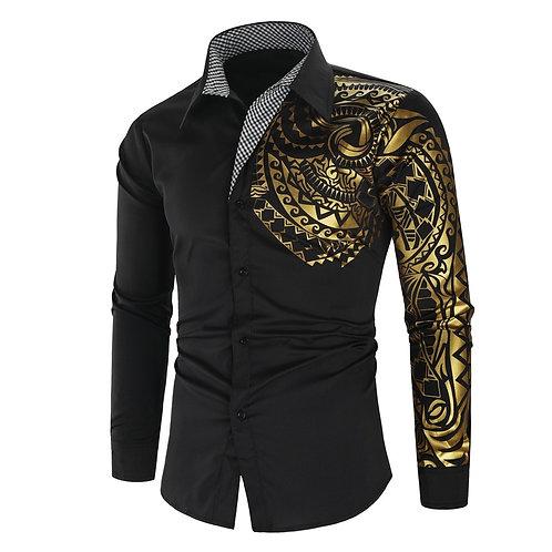 Men's Shirt Brand 2020 Men's Luxury Gold High Quality