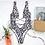 Thumbnail: Leopard Swimwear Women Swimsuit Brazilian Thong Bikini 2021