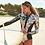 Thumbnail: Black and Print One Piece Swimsuit Long Sleeve Swimwear Women Bathing Suit Retro