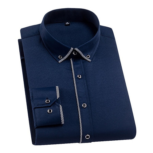 DAVYDAISY 2020 Autumn New Men Shirts Long Sleeve Fashion Solid Twill Business
