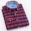 Thumbnail: Men's Casual 100% Cotton Oxford Striped Shirt Single Patch Pocket Long Sleeve