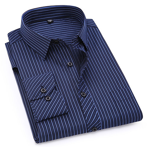 Plus Large Size 8XL 7XL 6XL 5XL 4XL Mens Business Casual Long Sleeved Shirt