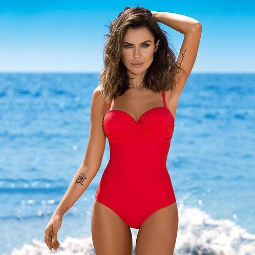 Summer Sexy One Piece Swimsuit 2021 Women Red Push Up Momokini Classic