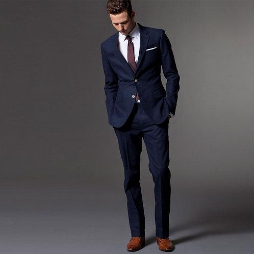 Men Suit Men Tuxedo Custom Made Wedding Suits for Men Tailored Light Navy Blue