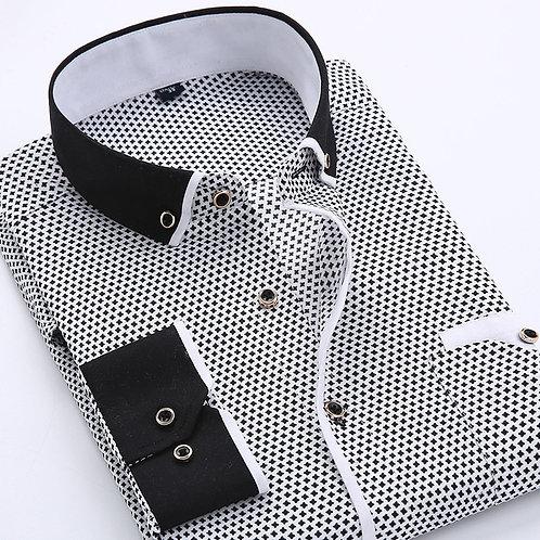 Floral Button Down Men Shirt Brand 2018 Male High Quality Long Sleeve Shirt