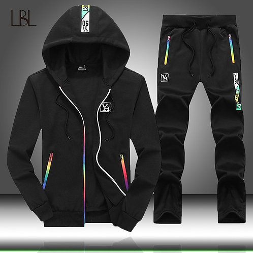 2020 Spring Autumn Tracksuit Men Casual Tracksuits Hoodies Two Piece Jackets