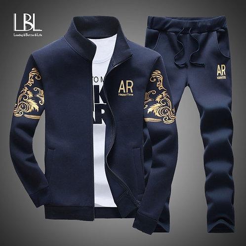 Brand Men Set Fashion Autumn Spring Sporting Suit Sweatshirt+Sweatpant TracksuiT