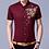 Thumbnail: Brand Wine Red Mens Dress Shirts 2018 Fashion Golden Rose Flower Print Button