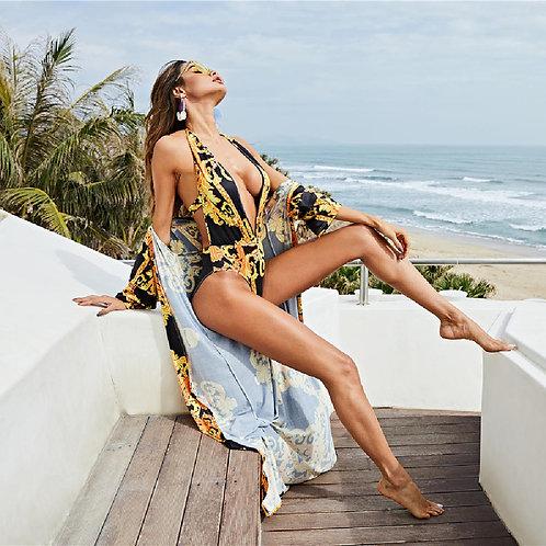 2 Pieces Sets 1 Kimono + 1 Swimsuit Female Bodysuits Swim Suits Summer Women