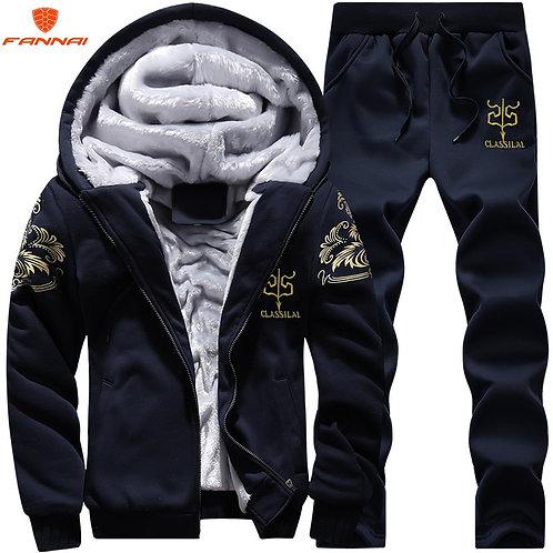 Men's Large Size M-9xl New Men's  Sets Autumn Sports Suit Sweatshirt +