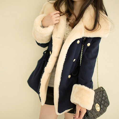 2021 Thickened Autumn and Winter New Korean Version of Slim and Thin Double-