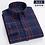 Thumbnail: Plus-Size 5XL 6XL 7XL 8XL 100% Cotton Plaid Fannel Thick Long Sleeve Men Shirt