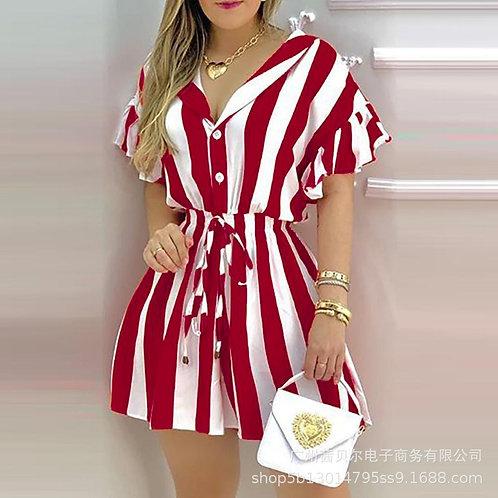 Fashion Women Shirts Dress Shorts Sleeve Slim Fit Mini Dresses Female Sexy Dress