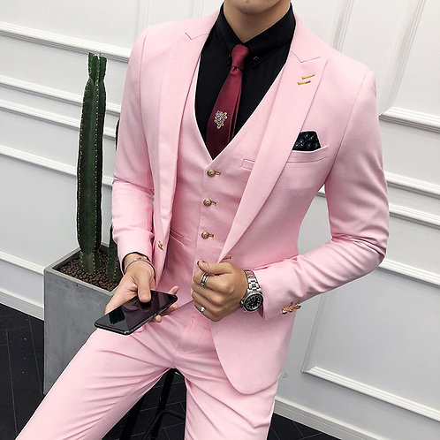 3PC Suit Men Brand New Slim Fit Business Formal Wear Tuxedo High Quality Wedding
