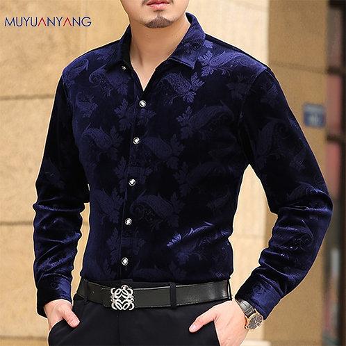 Mu Yuan Yang Long Sleeve Shirt Men Fashion New Designer High Quality Flannel