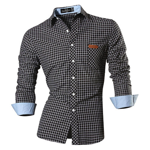 Jeansian Spring Autumn Features Shirts Men Casual Jeans Shirt New Arrival Long