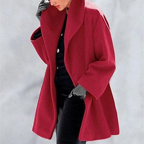 European and American Women's Fashion Plus Size Shawl Collar Pullover