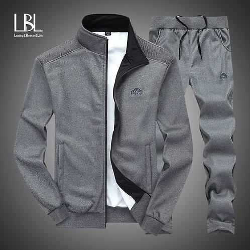 Autumn Tracksuit Men 2020 Sportswear Fashion Men Set Two Pieces Zipper Warm