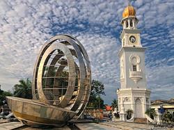 برج الساعة في جزيرة بينانج ماليزيا 1