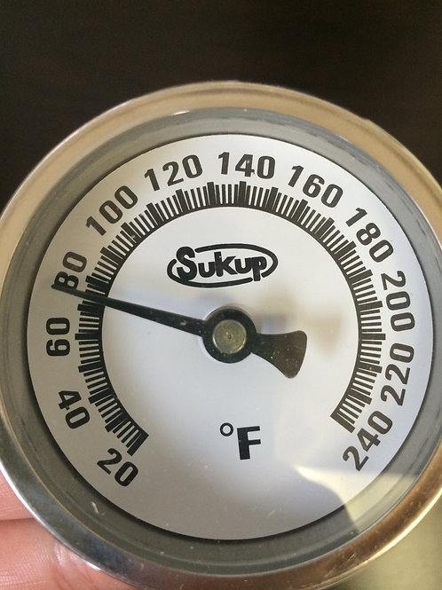 """Sukup Thermometer 2.5"""" Dial, 1/4"""" NPT"""