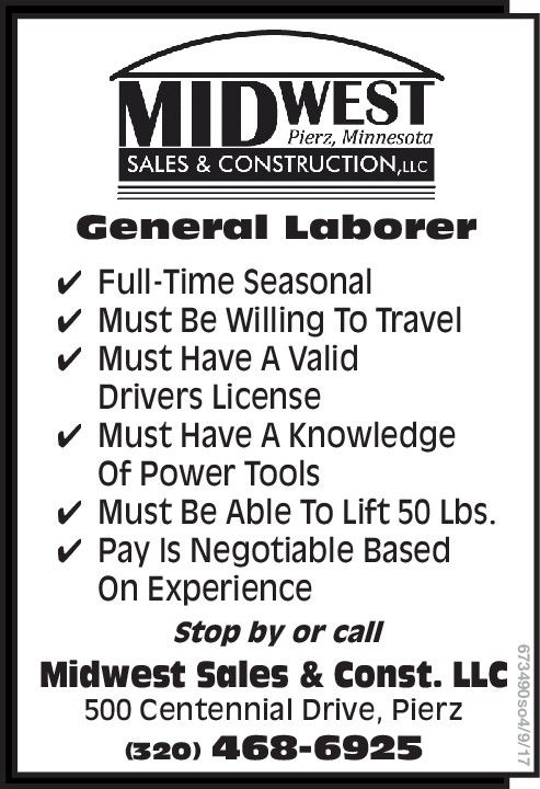Midwest Sales & Construction Application