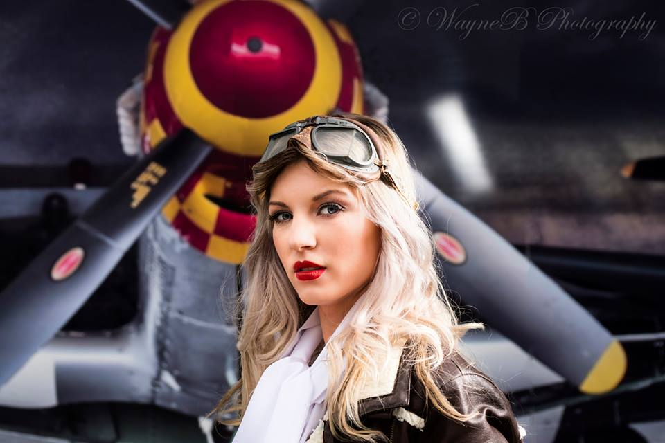 Aviation Photoshoot Retro Makeup