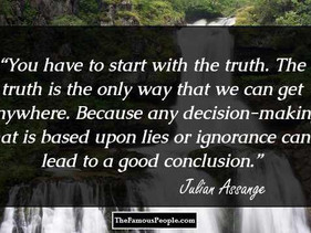 Julian Assange: our right to know the truth
