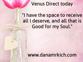 Venus Direct: time to receive