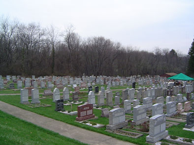Partial View of Cemetery