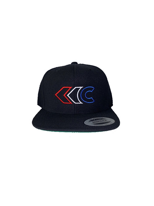 Classic Snapback (Black with Red/White/Blue)