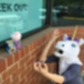 A greiving unicorn